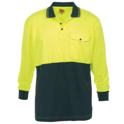 CLOTHING - WORK SHIRTS-COTTON DRILL HI VIS (72)